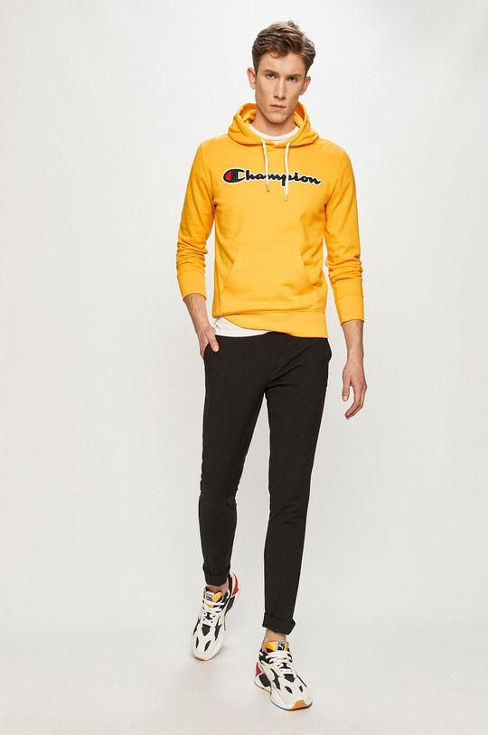 Champion - Bavlnená mikina žltá