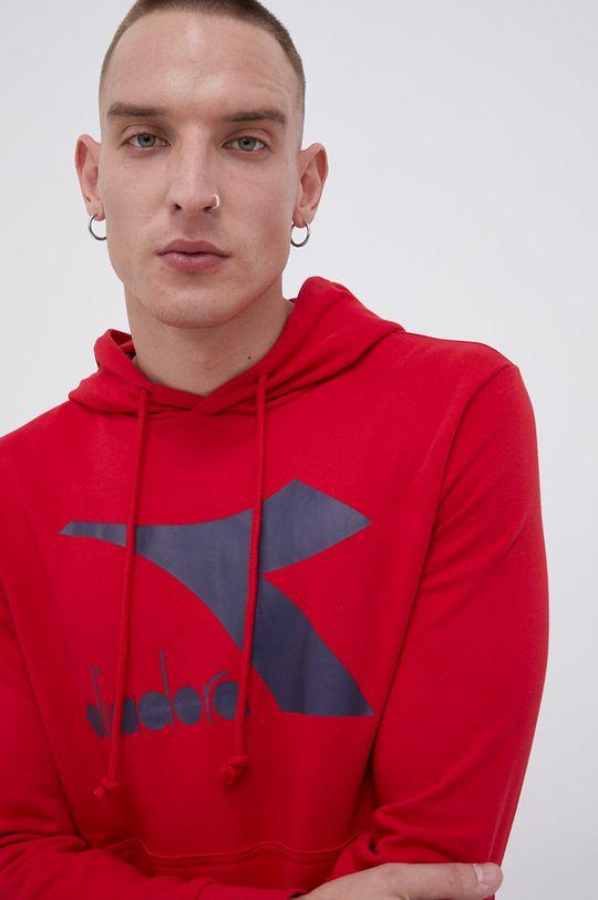 ostry czerwony Diadora - Bluza Męski