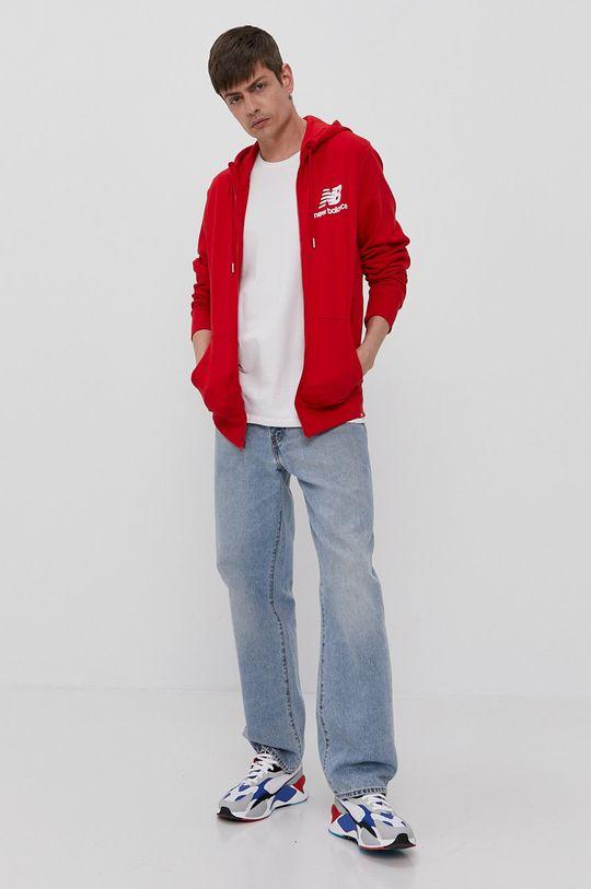 New Balance - Bluza czerwony