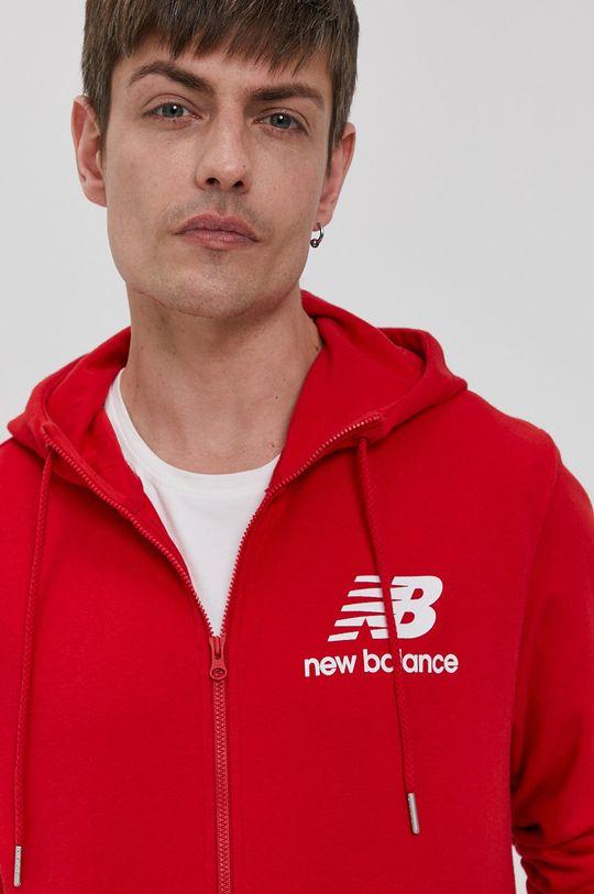 czerwony New Balance - Bluza