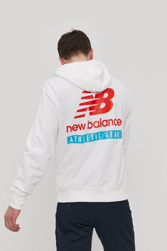 biały New Balance - Bluza Męski