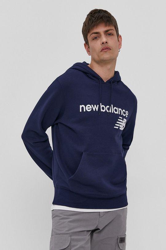 granatowy New Balance - Bluza Męski