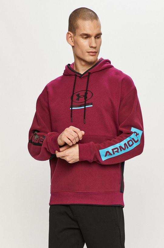 purpurowy Under Armour - Bluza Męski