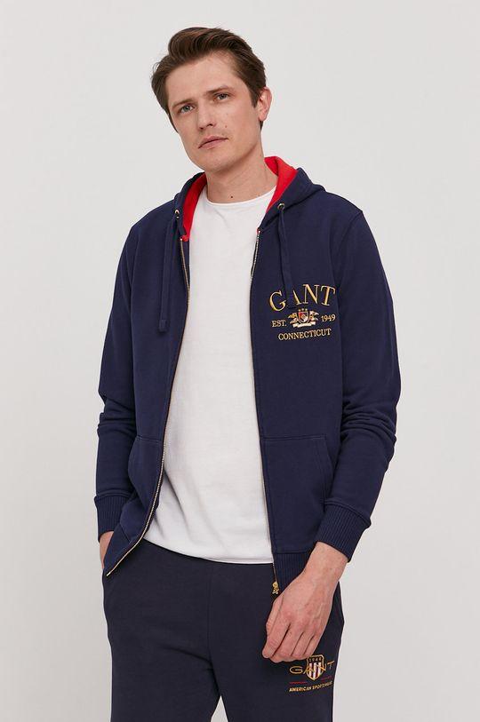 granatowy Gant - Bluza bawełniana Męski