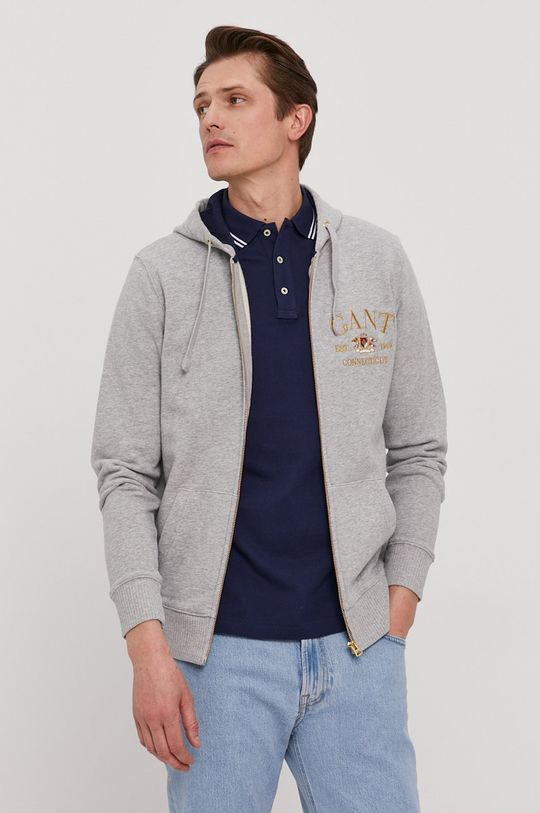 szary Gant - Bluza bawełniana Męski