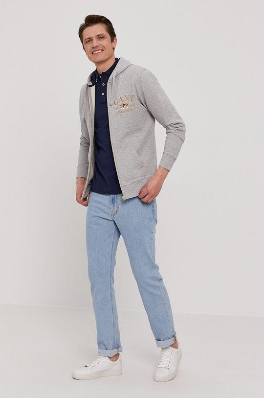 Gant - Bluza bawełniana szary