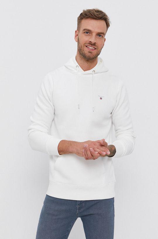biały Gant - Bluza Męski