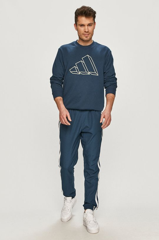 námořnická modř adidas Performance - Mikina Pánský