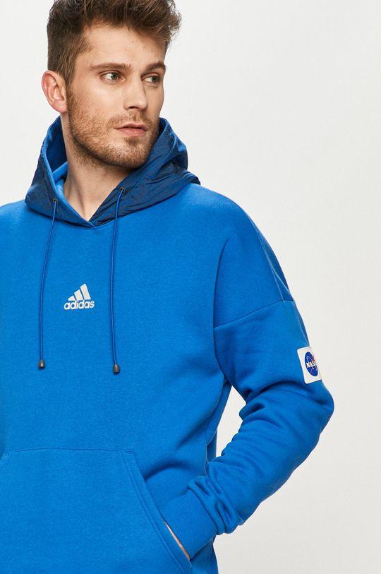 niebieski adidas Performance - Bluza