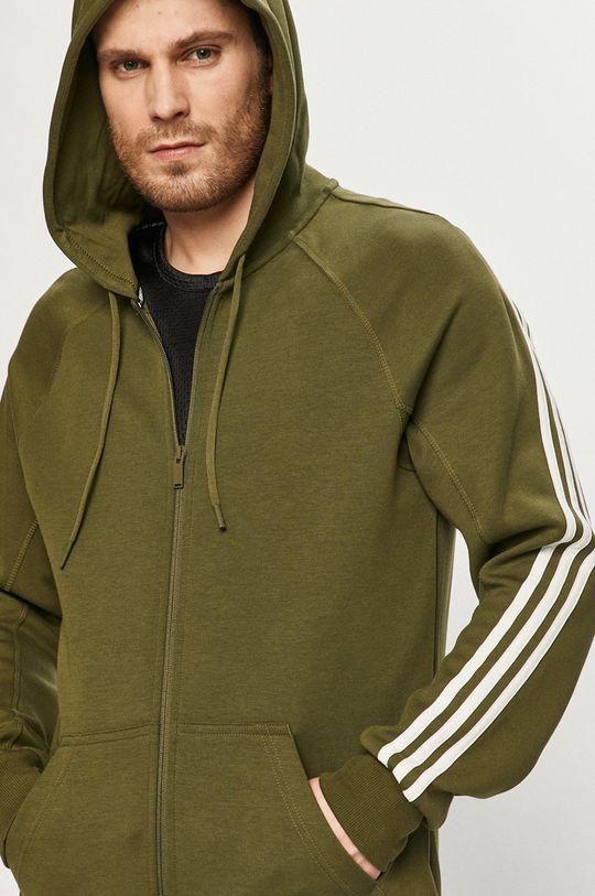 oliwkowy adidas Performance - Bluza
