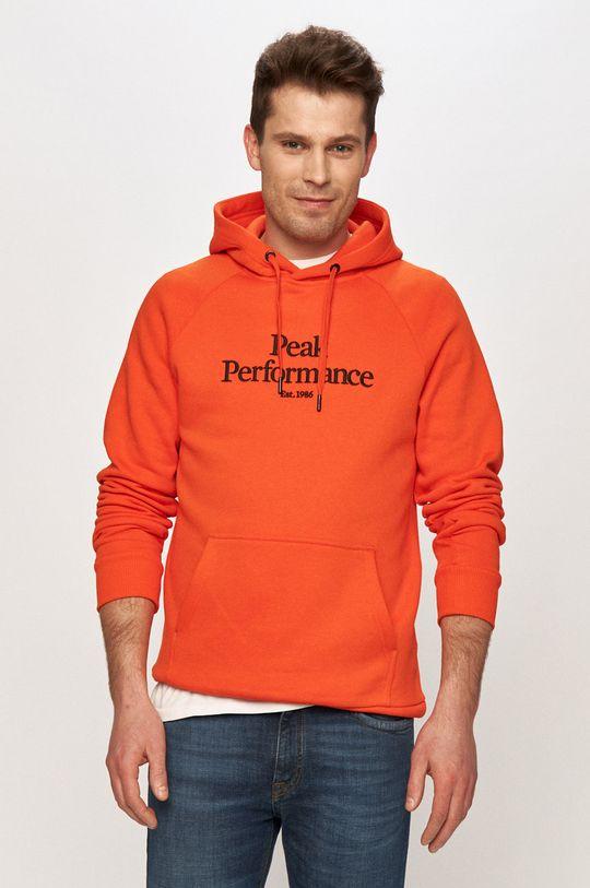 pomarańczowy Peak Performance - Bluza Męski
