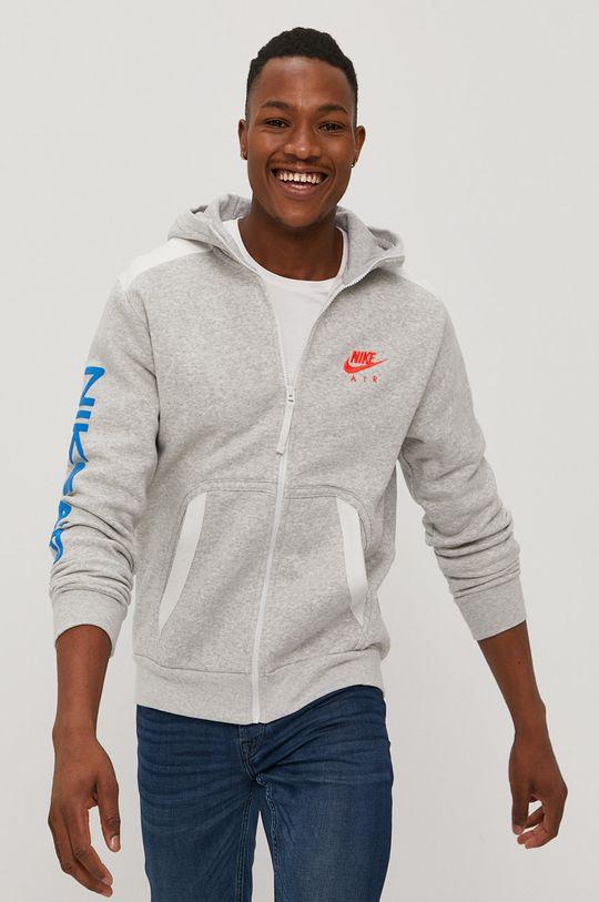 svetlosivá Nike Sportswear - Mikina Pánsky
