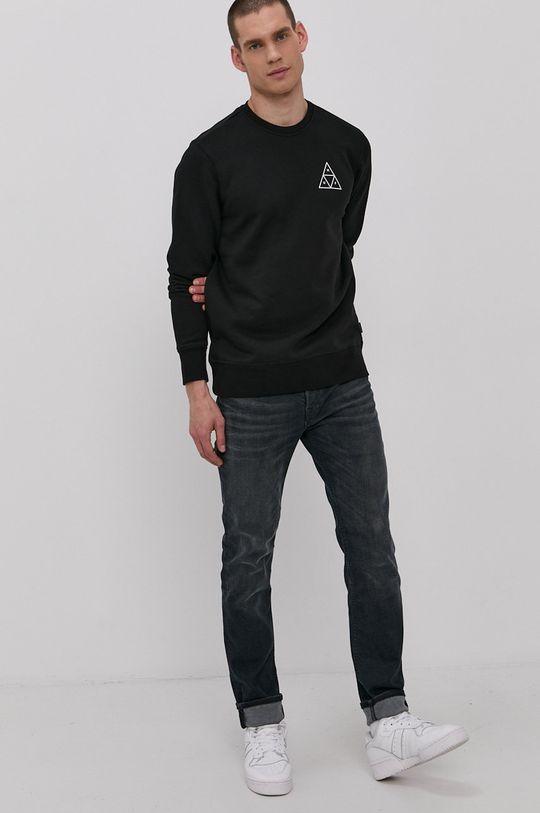 czarny HUF - Bluza Męski