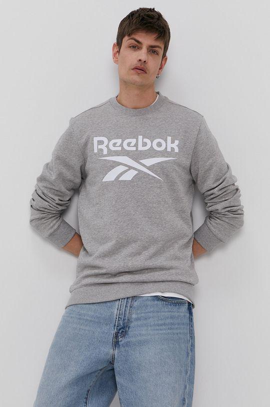 jasny szary Reebok - Bluza Męski