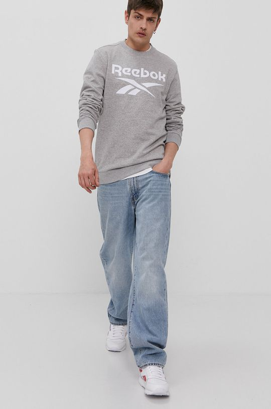 Reebok - Bluza jasny szary