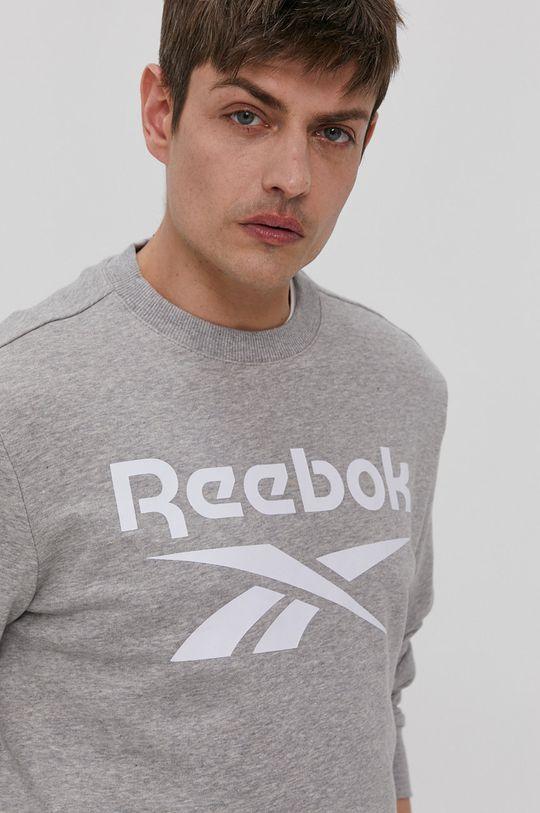 jasny szary Reebok - Bluza