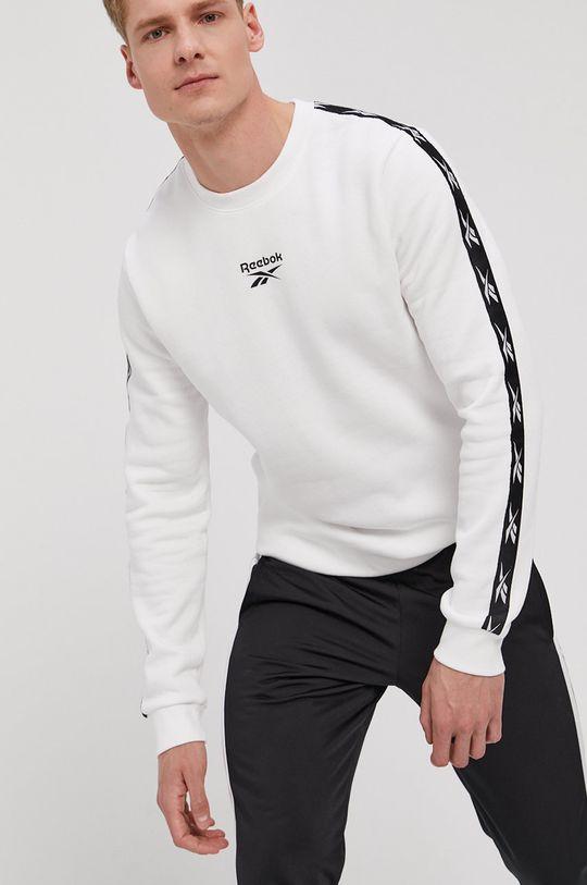 biały Reebok - Bluza Męski