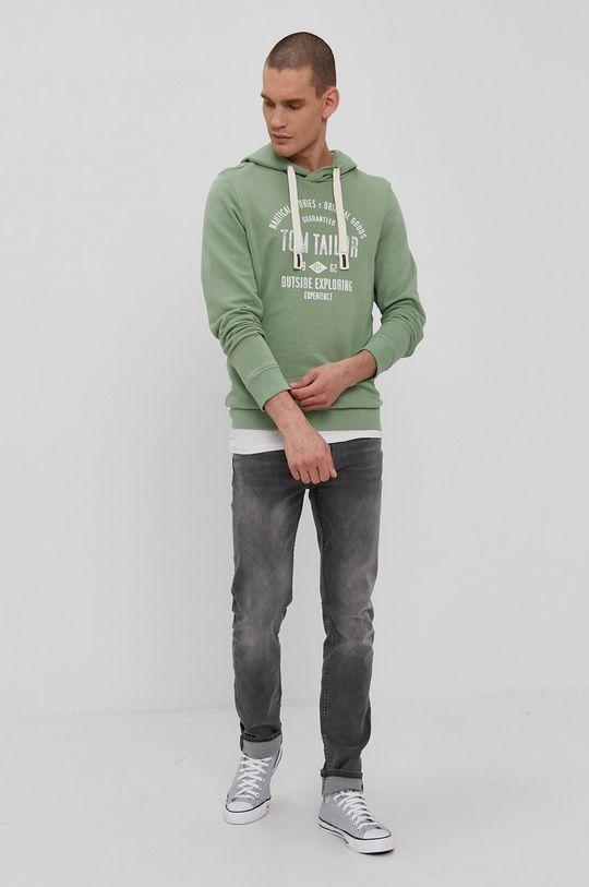 Tom Tailor - Bluza bawełniana blady zielony