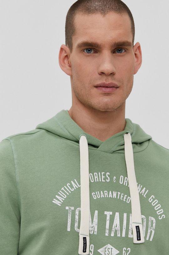blady zielony Tom Tailor - Bluza bawełniana