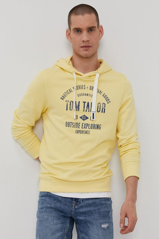 jasny żółty Tom Tailor - Bluza bawełniana Męski