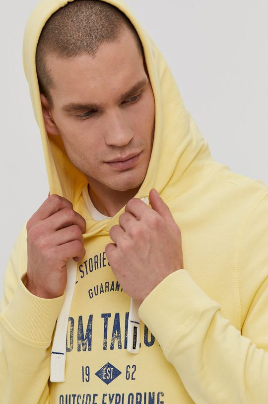 jasny żółty Tom Tailor - Bluza bawełniana