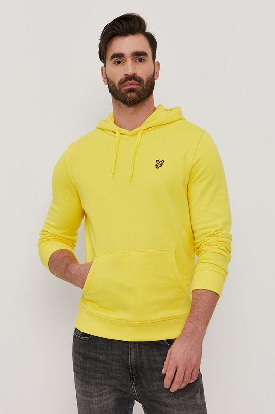 żółty Lyle & Scott - Bluza bawełniana Męski