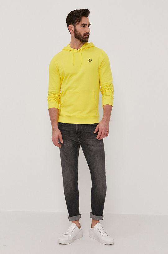 Lyle & Scott - Bluza bawełniana żółty
