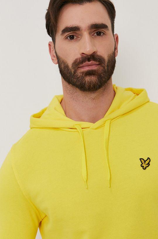 żółty Lyle & Scott - Bluza bawełniana