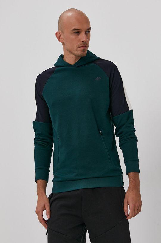zielony 4F - Bluza Męski