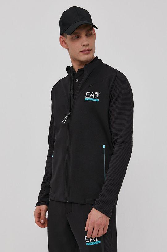 czarny EA7 Emporio Armani - Bluza Męski
