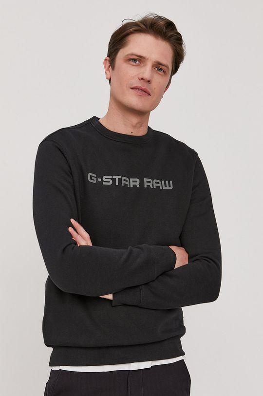 čierna G-Star Raw - Mikina Pánsky