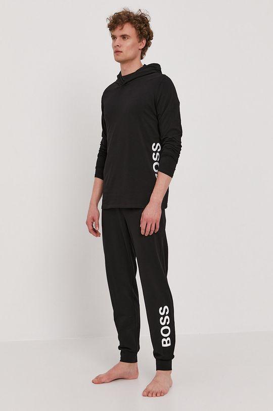 čierna Boss - Pyžamové tričko s dlhým rukávom Pánsky