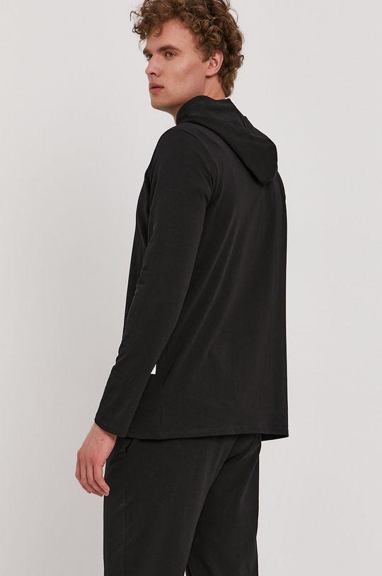 Boss - Pyžamové tričko s dlhým rukávom čierna