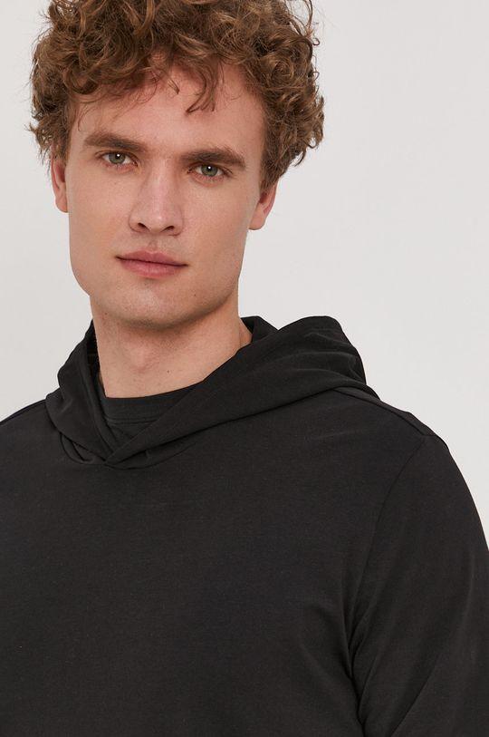 čierna Boss - Pyžamové tričko s dlhým rukávom