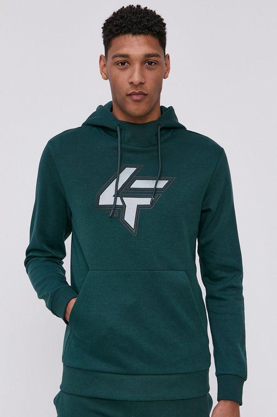 ciemny zielony 4F - Bluza Męski