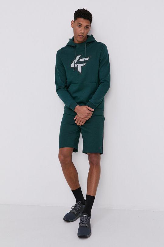 4F - Bluza ciemny zielony
