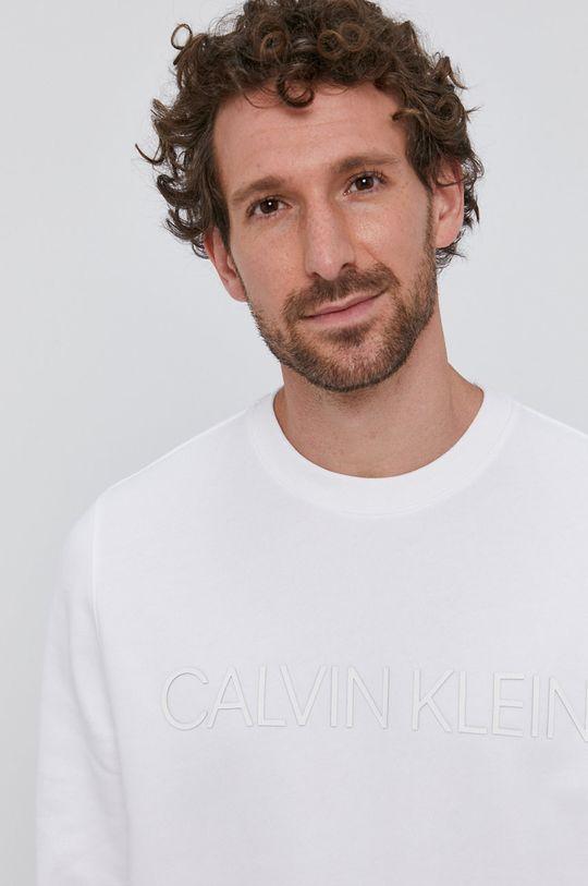 biały Calvin Klein - Bluza bawełniana Męski
