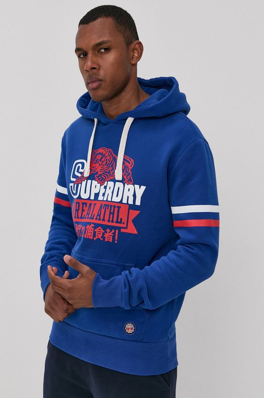 niebieski Superdry - Bluza