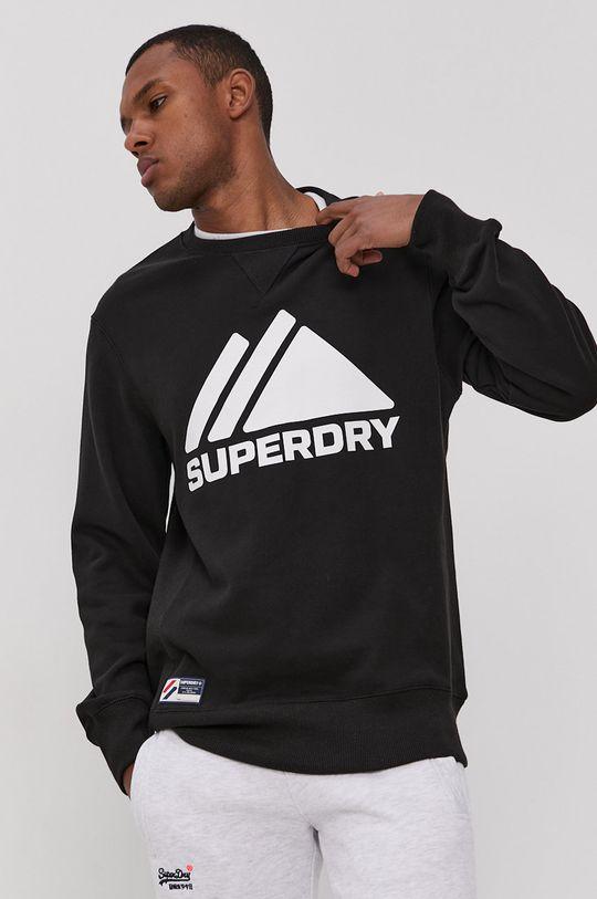 czarny Superdry - Bluza Męski