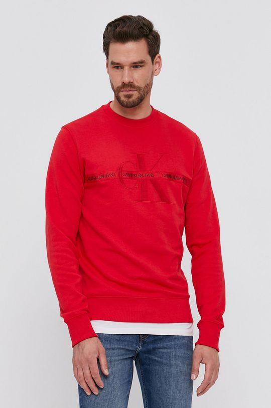 červená Calvin Klein Jeans - Mikina Pánsky
