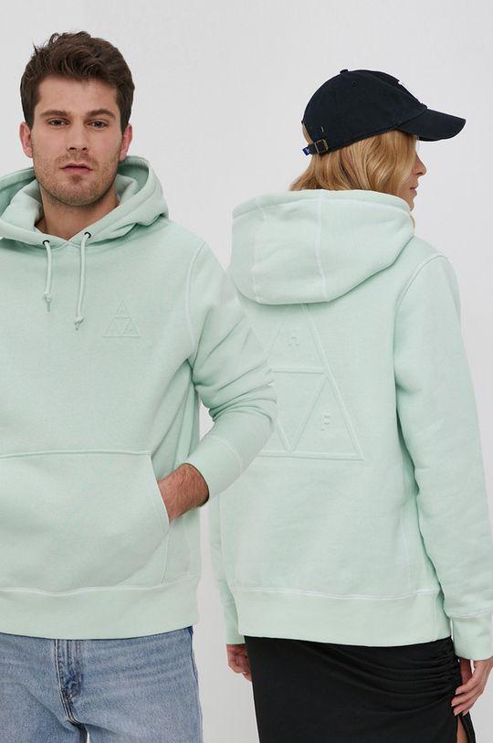 blady zielony HUF - Bluza bawełniana Unisex