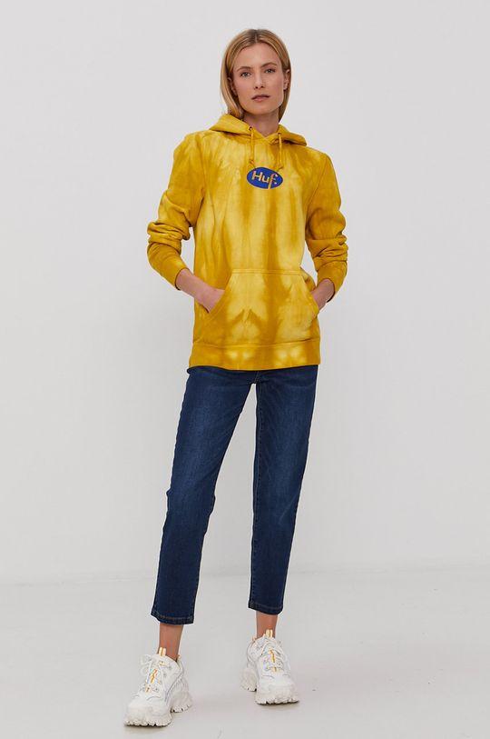 HUF - Mikina žlutá