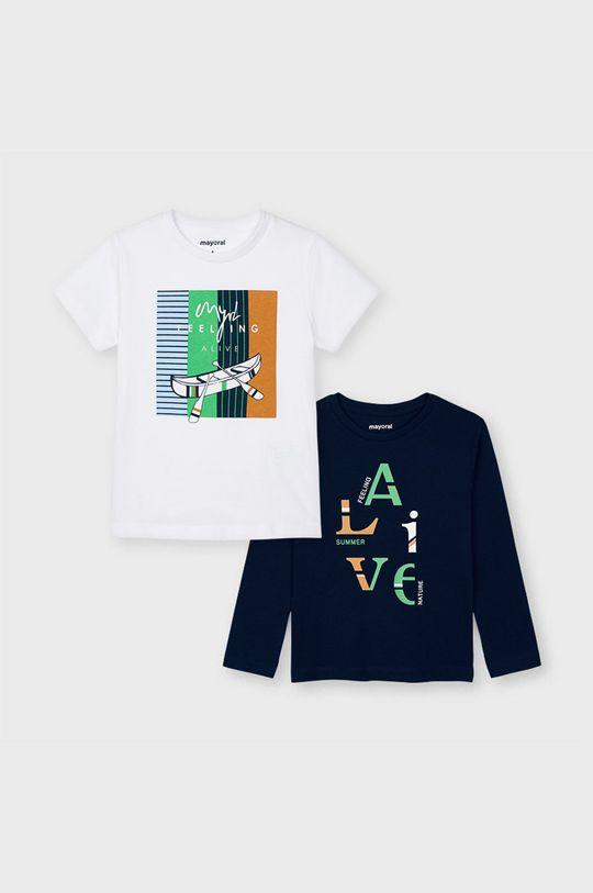 biały Mayoral - Zestaw - longsleeve i T-shirt dziecięcy Chłopięcy