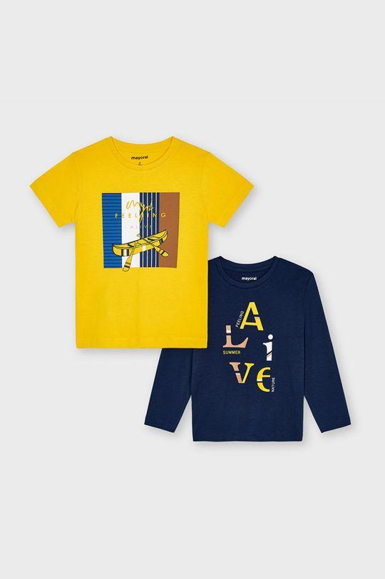 jasny pomarańczowy Mayoral - Zestaw - longsleeve i T-shirt dziecięcy Chłopięcy