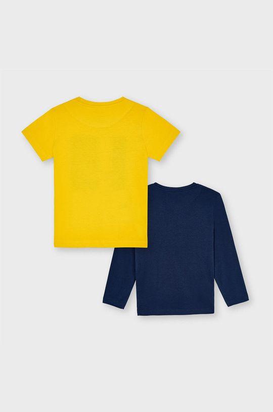 Mayoral - Zestaw - longsleeve i T-shirt dziecięcy jasny pomarańczowy