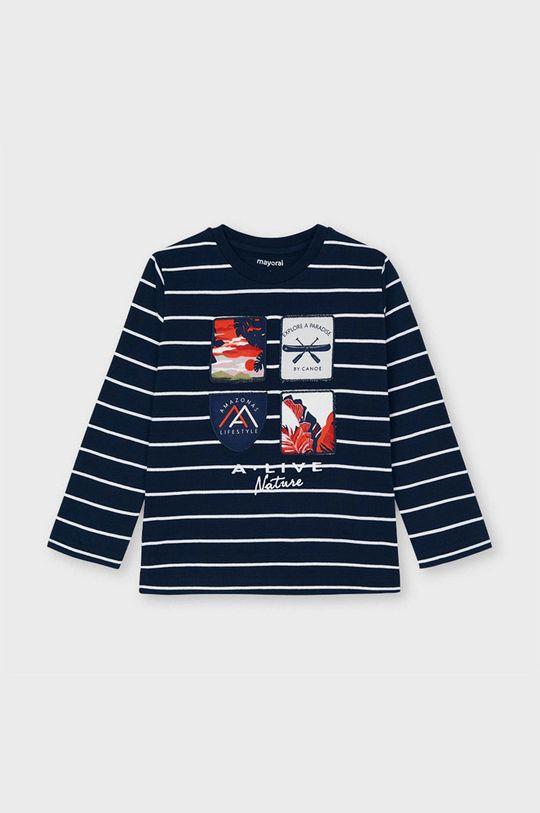 tmavomodrá Mayoral - Detské tričko s dlhým rukávom Chlapčenský