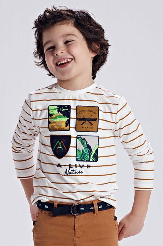 zlatohnedá Mayoral - Detské tričko s dlhým rukávom Chlapčenský