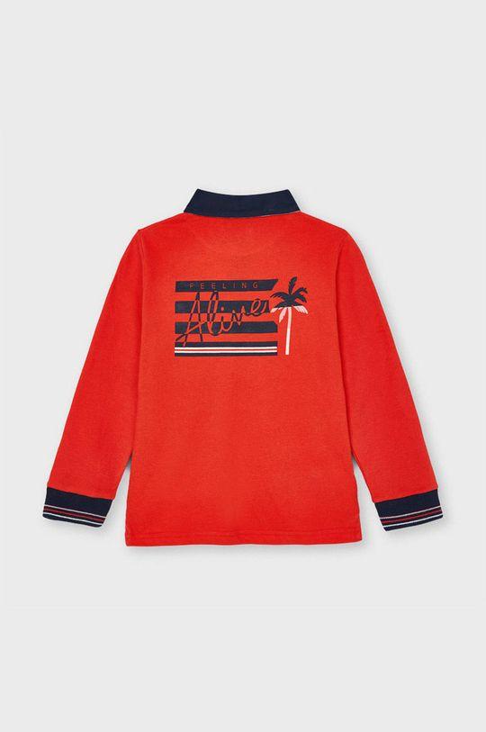 Mayoral - Tricou polo copii rosu ascutit