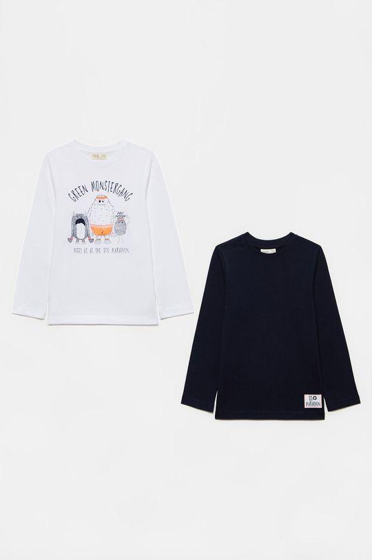 biały OVS - Longsleeve dziecięcy (2-PACK) Chłopięcy
