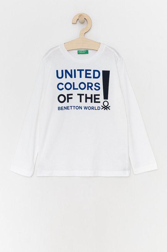 biela United Colors of Benetton - Detské tričko s dlhým rukávom Chlapčenský